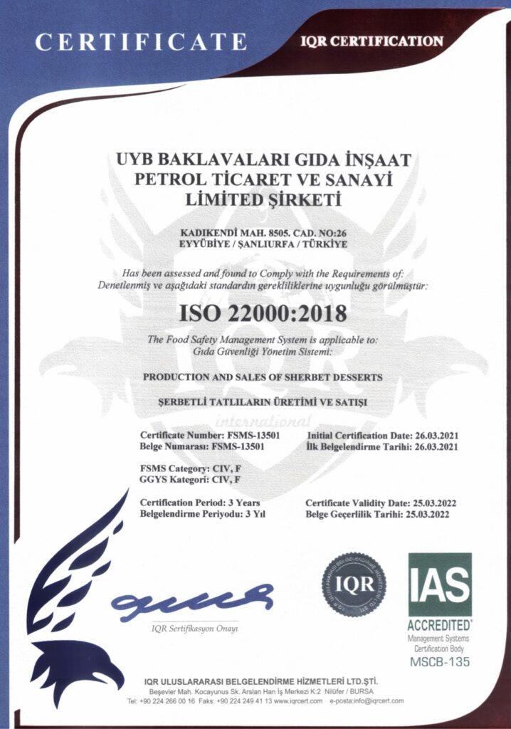 ISO 22000 201829032021 BELGESİ